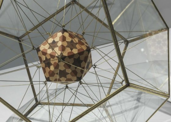 Icosahedron within a Dodecahedron II from The Platonic Solid Duals by Dana Awartani, 2018