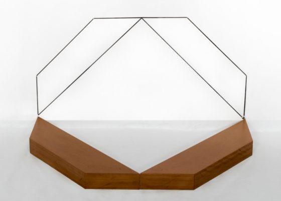 Mehdi MOUTASHAR. Deux carrés dont un encadré (2017). Courtesy of the artist