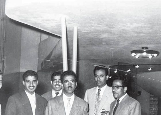Kuwaiti students in front of Kuwait House in Cairo, Egypt, circa 1950s. Image courtesy of Reem Khorshid.