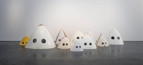 Adel Abdessemed, Klan, 2007, Felt, aluminium and fiberglass plane noses, 96 x 120 x 127 cm, Art Jameel Collection.