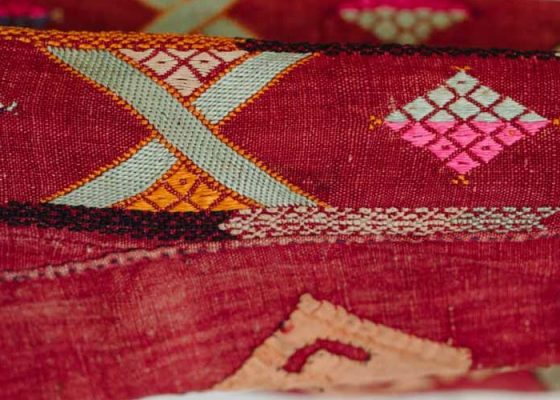 Close up of Palestinian textile