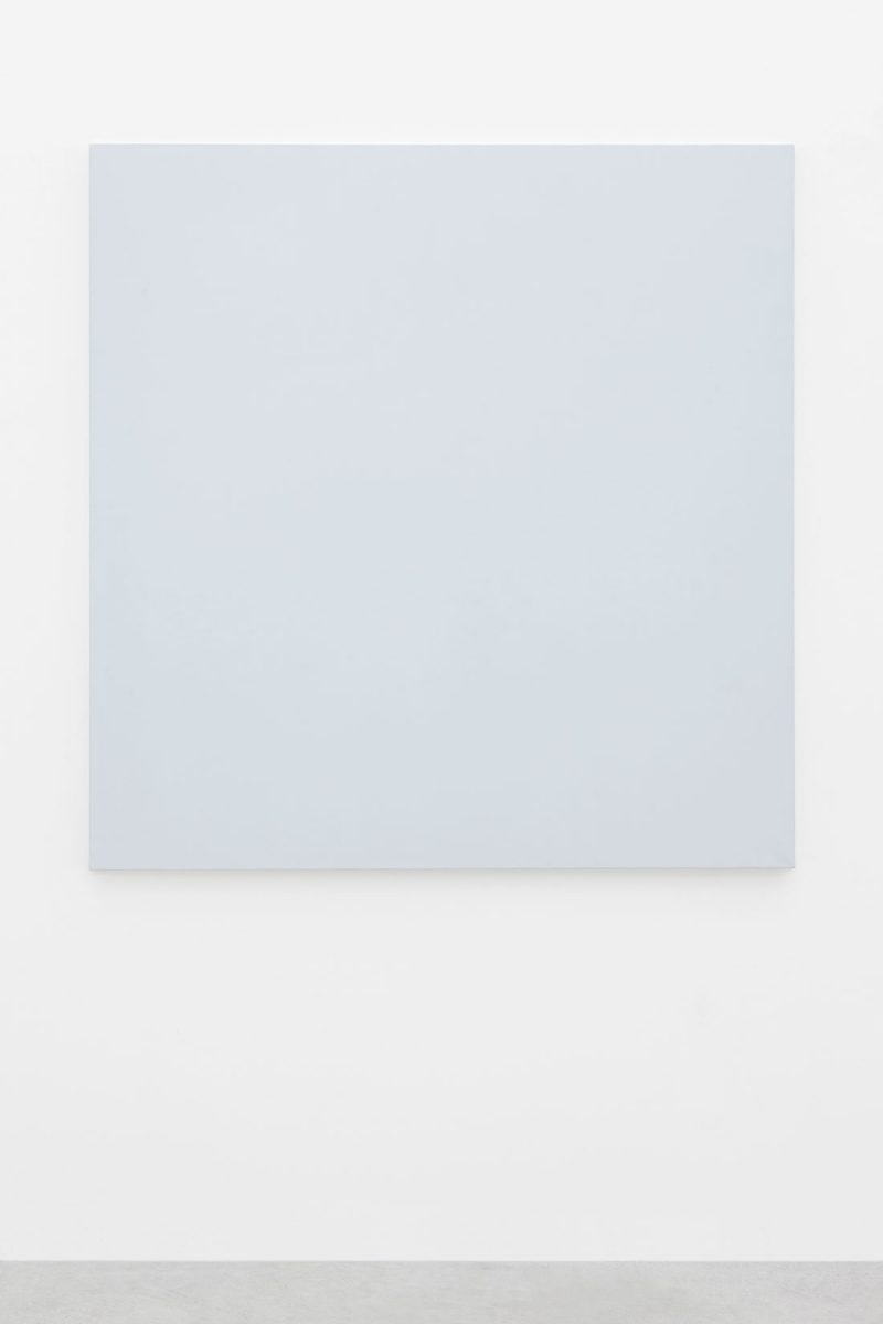 Mario García Torres, I was actually thinking of someone else, n.d., Arabic gum, water, vinegar, honey and titanium white powder on cotton canvas, 147.5 x 144.3 x 3 cm, Art Jameel Collection. Photo by Sebastiano Pellion di Persano.