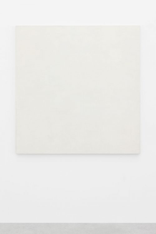 Mario García Torres, For the sake of the exhibition, n.d., Water-based paint, varnish, titanium white powder, yolk, vinegar, Arabic gum and honey on cotton canvas, 147.5 x 144.3 x 3 cm. Art Jameel Collection. Photo by Sebastiano Pellion di Persano.