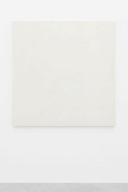 Mario García Torres, For the sake of the exhibition, n.d., Water-based paint, varnish, titanium white powder, yolk, vinegar, Arabic gum and honey on cotton canvas, 147.5 x 144.3 x 3 cm. Art Jameel Collection. Photo by Sebastiano Pellion di Persano.