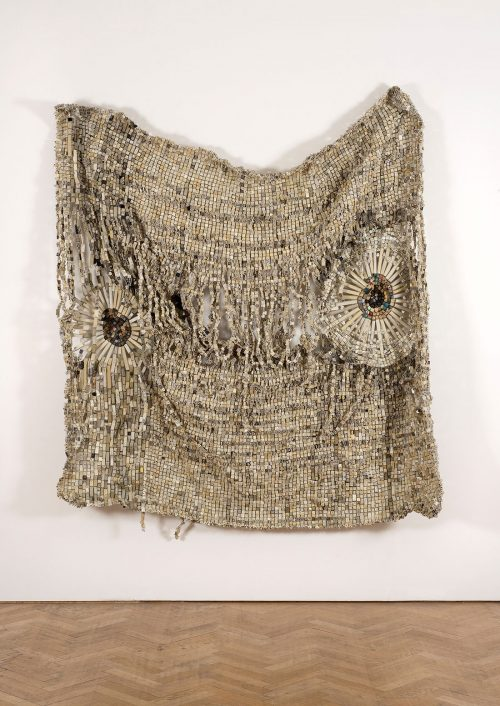 Moffat Takadiwa, Second Hand Information, 2014, Computer Keys, 220 x 171 x 23 cm. Art Jameel Collection. Photograph courtesy of the artist and Vigo Gallery.