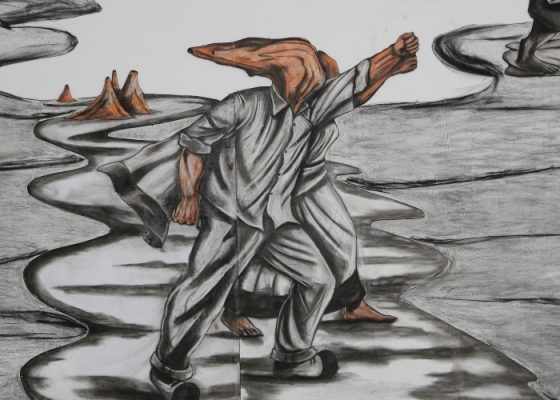 Prabhkar Pachpute, Sea of Fists, 2018-2019. Courtesy of the artist