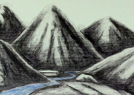 Prabhakar Pachpute, Earthwork of Hadsati (2013, 3 mins) and Dark Cloud of the Future (2014, 3 mins). Courtesy of the artist.