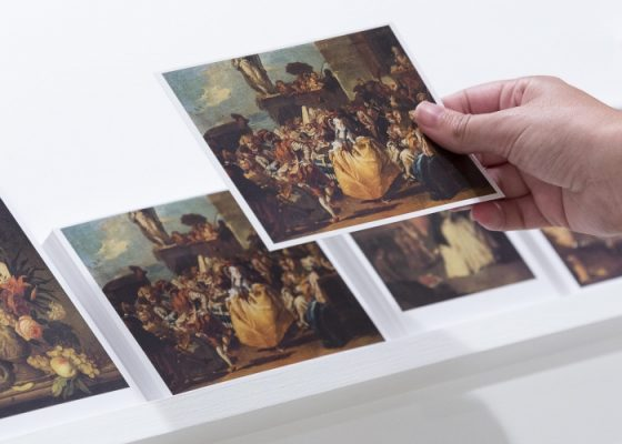 Pio Abad; The Collection of Jane Ryan William Saunders 2014-ongoing. Postcards 97 sets.-Photo courtesy Document Photography