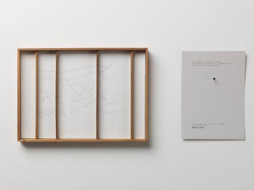شيلبا غوبتا , بدون عنوان, 2018 ,خطوط على ورق الاستشفاف وخشب ونص مطبوع,  30,5 ×3× 22 سم (10 عمل). مع التقدير للفنان .مجموعة فن جميل