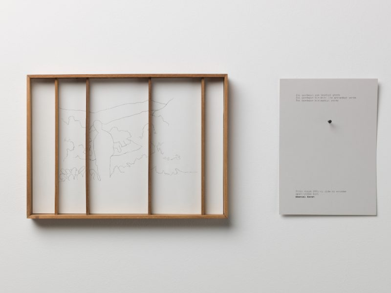 Shilpa Gupta, Untitled, 2018, Tracings on paper, wood and printed text. 30,5 x 3 x 22 cm each. Courtesy of the artist. Art Jameel Collection