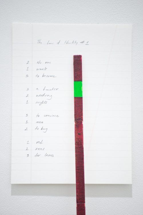 سريشتا ريت بريمناث, قانون الهوية رقم 1 و2 و3 و4, 2017 ,صبغة وردية، طلاء كروما، مسطرة، قلم رصاص على ورق, ﻣﻊ اﻟﺘﻘﺪﻳﺮ ﻟﻠﻔ،ﺎن,  مجموعة فن جميل
