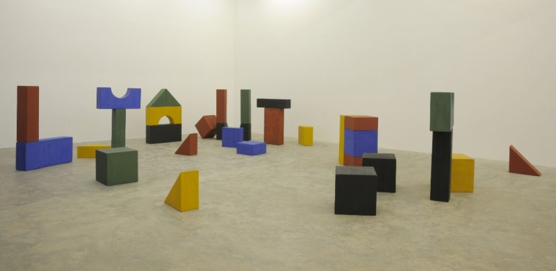 Yto Barrada, Lyautey Unit Blocks, 2010, Wood and paint, Dimensions variable. Image courtesy of the artist and Sfeir-Semler Gallery Beirut / Hamburg. Art Jameel Collection